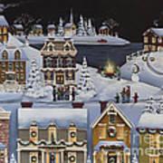 Caroling In Winterberry Poster