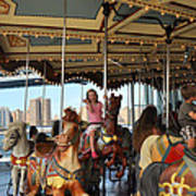 Carousel Brooklyn Bridge Park Poster