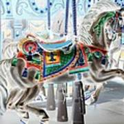 Carousel Horse In Negative Colors Poster