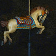 Carousel Horse Painterly Poster