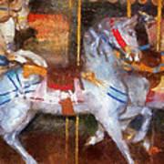 Carousel Horse Photo Art 02 Poster