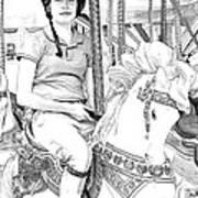 Carousel Rider Poster