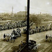 Carriages Carrying Admiral Togo Poster