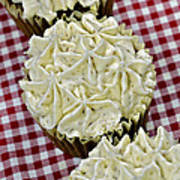 Carrot Cupcakes Poster by Susan Leggett