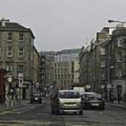 Cars And Buildings On The Streets Of Edinburgh Poster