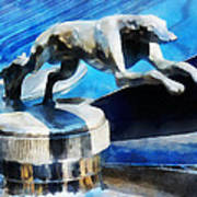 Cars - Lincoln Greyhound Hood Ornament Poster