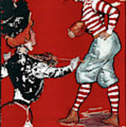 Cartoon Football, 1901 Poster