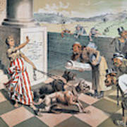 Cartoon Immigration, 1885 Poster