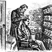 Cartoon: Phrenology, 1865 Poster