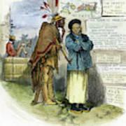 Cartoon Prejudice, 1879 Poster