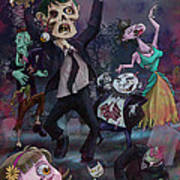 Cartoon Zombie Party Poster