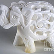 Carved Elephant Poster