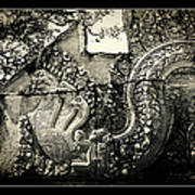 Carved Naga At Banteay Srey Poster