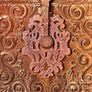Carved Wooden Door Poster