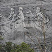 Carving Of Confederate Generals On Stone Mountain Poster