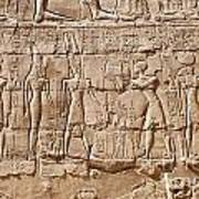 Carvings At The Temple Of Karnak Poster