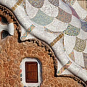 Casa Del Guarda Details In Park Guell Poster