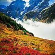 Cascade Pass Peaks Poster