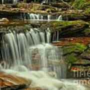 Cascading Everywhere At Ricketts Glen Poster
