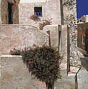 case a Santorini Poster