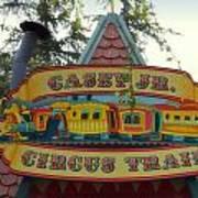 Casey Jr Circus Train Fantasyland Signage Disneyland Poster