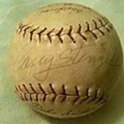 Casey Stengel Baseball Autograph Poster