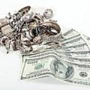 Cash For Sterling Silver Scrap Poster