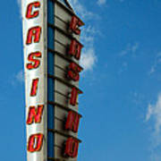 Casino Sign Poster by Norman Pogson