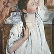 Cassatt, Mary Stevenson 1845-1926. Girl Poster