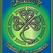 Cassidy Ireland To America Poster