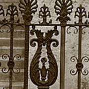 Cast Iron Fence Poster