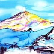 Caste Rock Antarctica Poster by Carolyn Doe