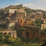 Castel Sant'elmo From Chiaia. Naples Poster