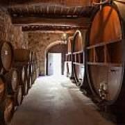 Castelle Di Amorosa Barrel Room Poster by Scott Campbell