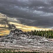 Castle Geyser - Yellowstone Poster