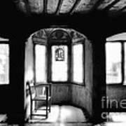 Castle Room With Chair Bw Poster