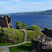 Castle Ruins On Loch Ness Poster