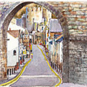 Castle Street Conwy North Wales Poster