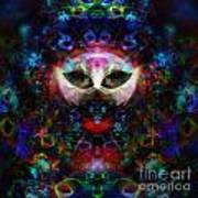 Cat Carnival Poster by Klara Acel