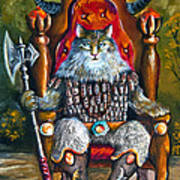 Cat King Poster