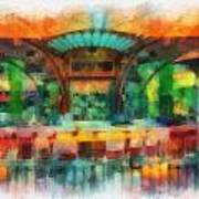 Catal Outdoor Cafe Downtown Disneyland Photo Art 01 Poster