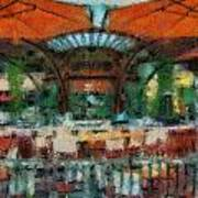 Catal Outdoor Cafe Downtown Disneyland Photo Art 03 Poster