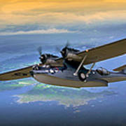 Catalina Over Islands Poster