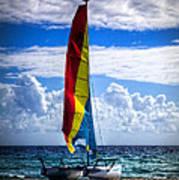 Catamaran At The Beach Poster