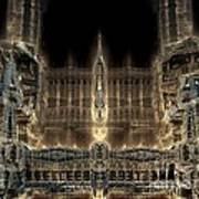 Cathedral By Night Poster by Bernard MICHEL