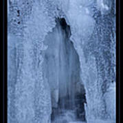 Cathedral Ice Waterfall Poster