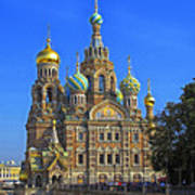 Cathedral Of Christ's Resurrection On Spilled Blood Poster