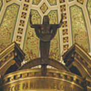 Cathedral Of The Immaculate Conception Detail - Mobile Alabama Poster