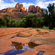Cathedral Rock Reflections Poster