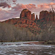 Cathedral Rock Sunset Poster by Paul Riedinger